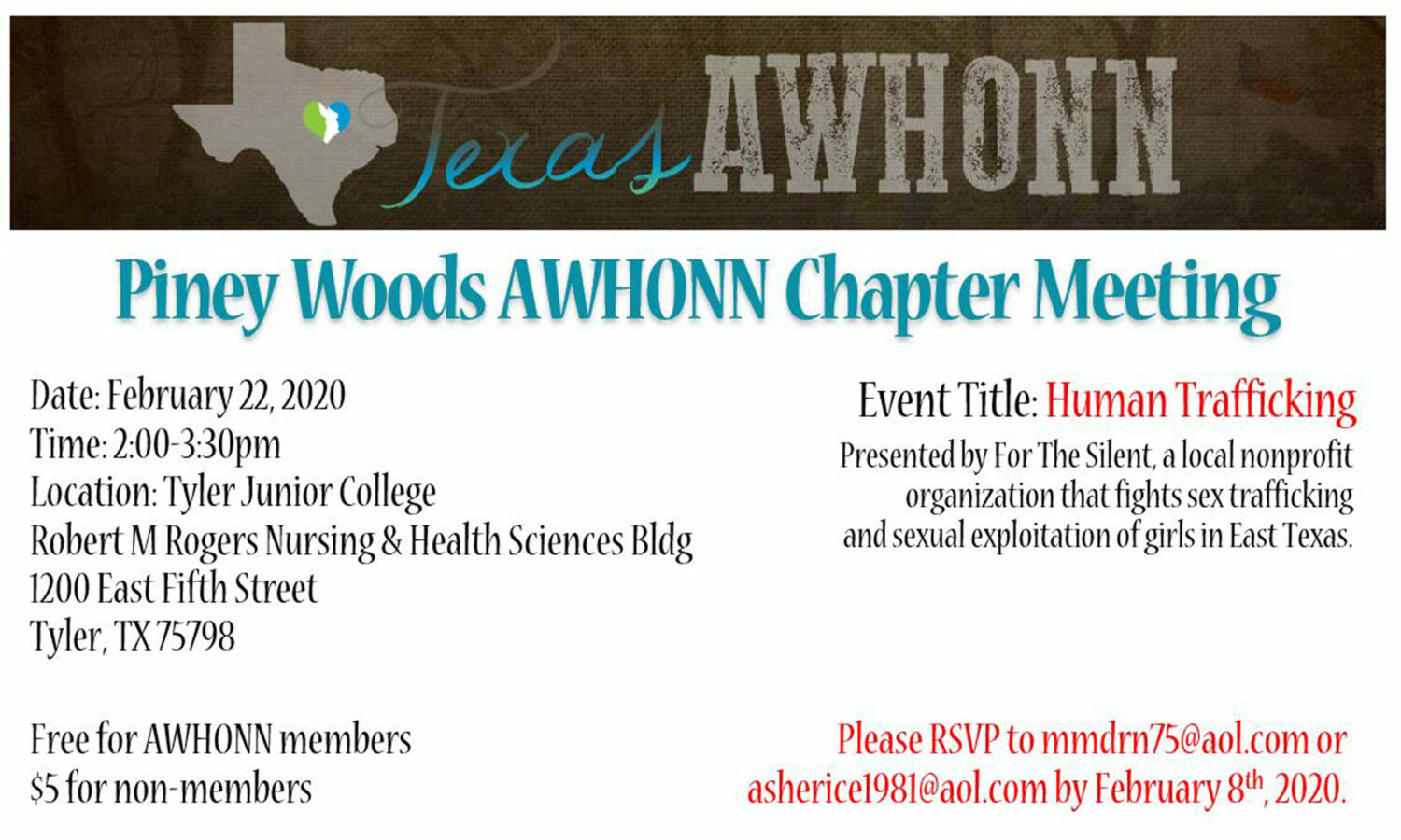 Texas Piney Woods AWHONN Chapter meeting